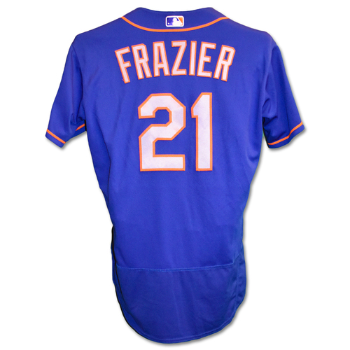 Photo of Todd Frazier #21 - Team Issued Blue Alt. Road Jersey - 2019 Season