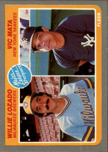 Photo of 1985 Fleer #644 Willie Lozado RC/Vic Mata RC