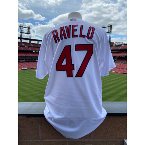 Photo of Cardinals Authentics: Game Worn Rangel Ravelo Home White Cardenales Jersey