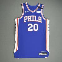 Alec Burks - Philadelphia 76ers - Game-Worn Icon Edition Jersey - 2019-20 NBA Season Restart with Social Justice Message