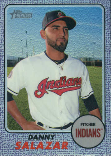 Photo of 2017 Topps Heritage Chrome Purple Refractors #THC471 Danny Salazar