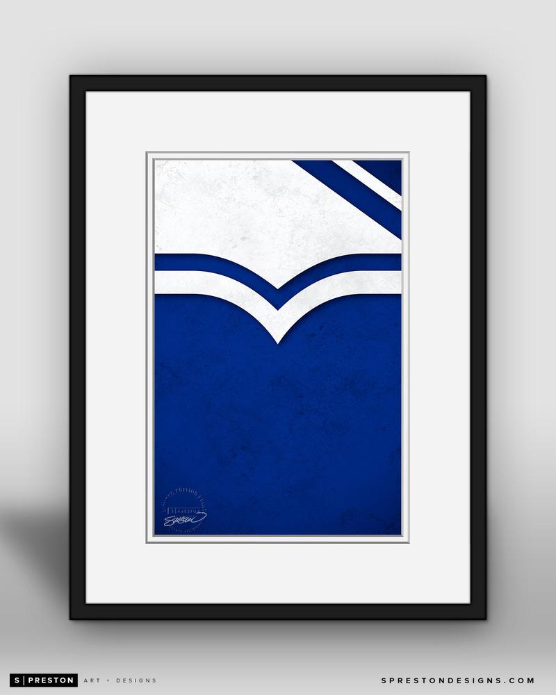 New York Rangers Minimalist Logo Fine Art Print by S. Preston