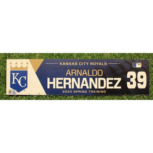 Photo of Game-Used 2020 Spring Training Locker Tag: Arnaldo Hernandez #39