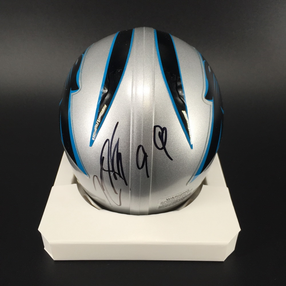 NFL - Panthers Kawann Short Signed Mini Helmet