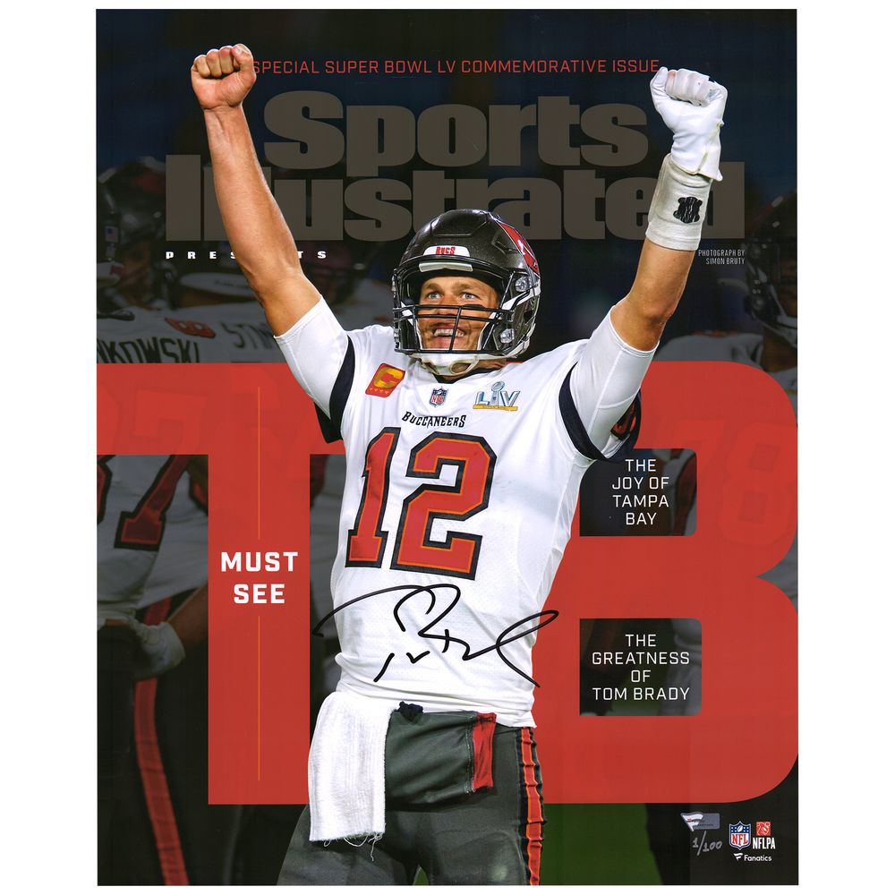 Tom Brady Tampa Bay Buccaneers 16'' x 20'' Signed Sports Illustrated Cover - Limited Edition #1/100