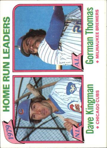 Photo of 1980 Topps #202 Home Run Leaders/Dave Kingman/Gorman Thomas