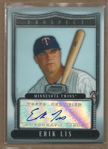 Photo of 2007 Bowman Sterling Prospects #EL Erik Lis AU