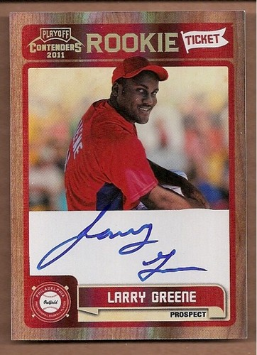 Photo of 2011 Playoff Contenders Rookie Ticket Autographs #RT3 Larry Greene