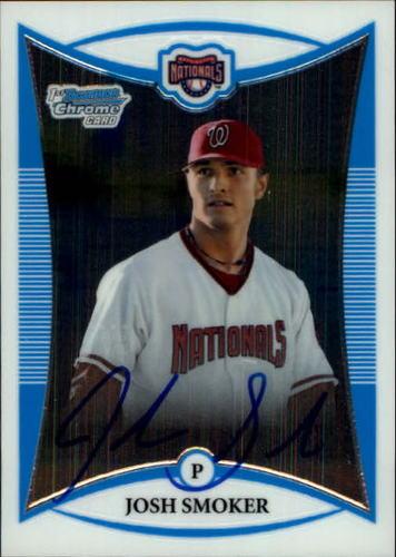 Photo of 2008 Bowman Chrome Prospects #BCP123 Josh Smoker AU