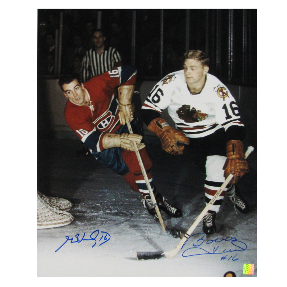 Bobby Hull Blackhawks 16 HENRI RICHARD & BO...