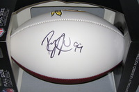 REDSKINS - RICKY JEAN FRANCOIS SIGNED PANEL BALL W/REDSKINS LOGO