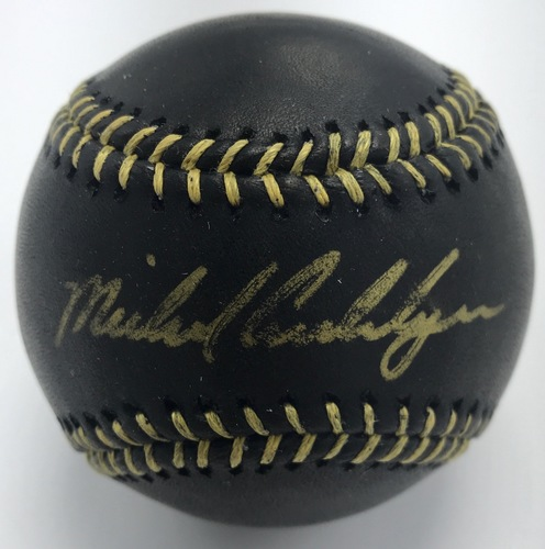 Photo of Michael Cuddyer Autographed Black Baseball