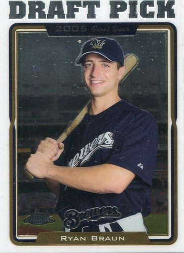 Photo of 2005 Topps Chrome Update #198 Ryan Braun Rookie Card