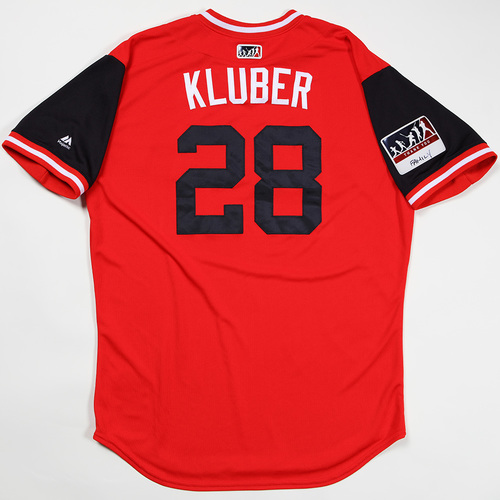 "Photo of Corey ""Kluber"" Kluber Cleveland Indians Game-Used Jersey 2018 Players' Weekend Jersey"