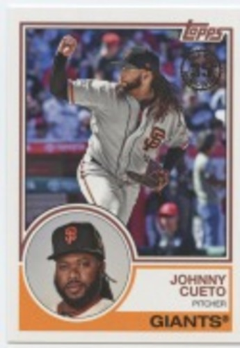 Photo of 2018 Topps Update '83 Topps #8332 Johnny Cueto