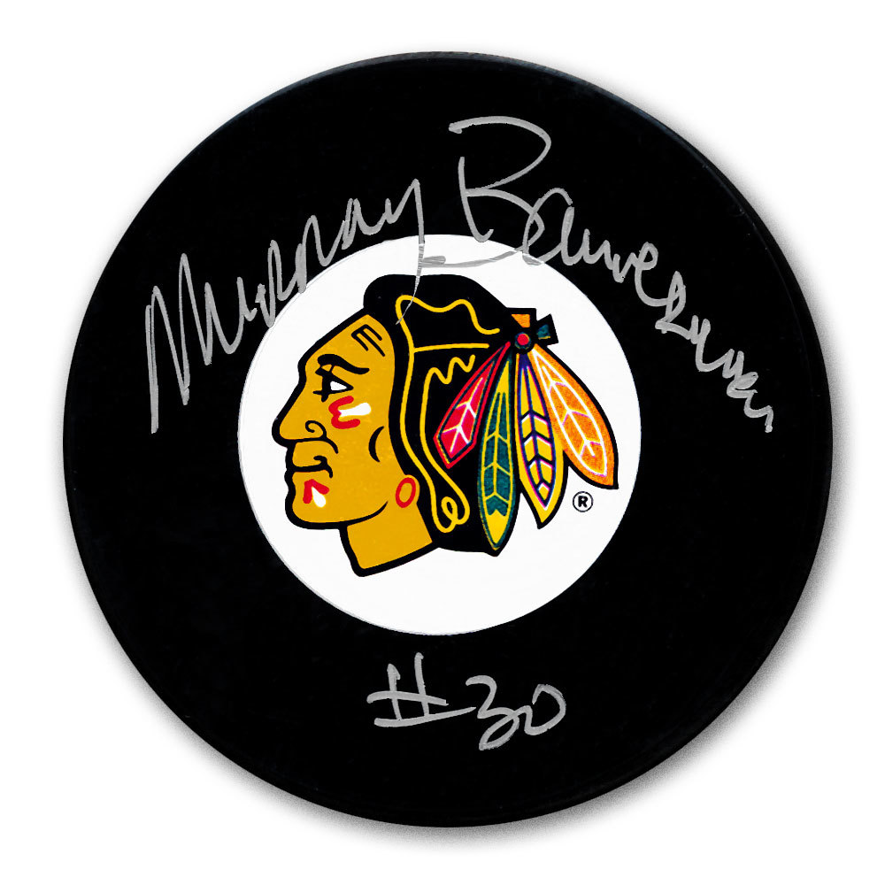 Murray Bannerman Chicago Blackhawks Autographed Puck