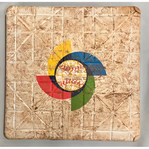 Photo of 2017 World Baseball Classic Game Used Base- 3rd Base (Innings 1-9) (Venezuela at United States)