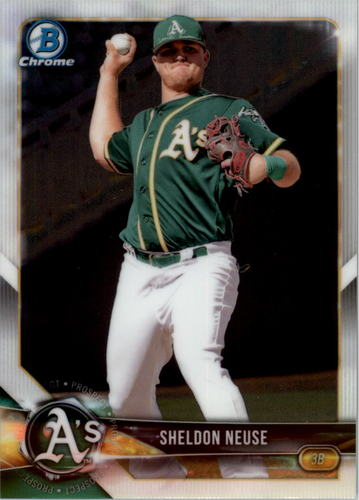 Photo of 2018 Bowman Chrome Draft #BDC123 Sheldon Neuse