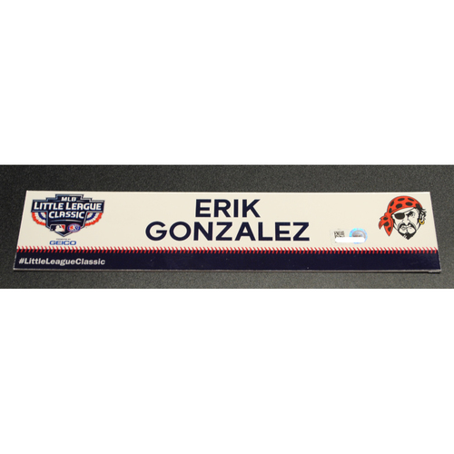 Photo of 2019 Little League Classic - Game Used Locker Tag - Erik Gonzalez,  Chicago Cubs at Pittsburgh Pirates - 8/18/2019