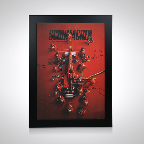 Photo of Ferrari F1-2000 - Michael Schumacher - Pit Stop Poster