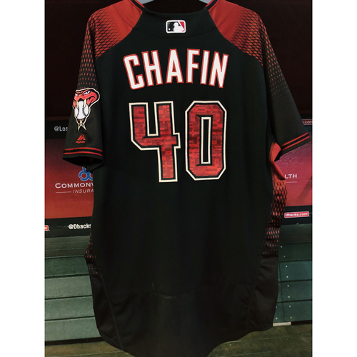 Photo of Andrew Chafin Game-Used Los D-backs Jersey - 9/28/19 vs. Padres; Size 50