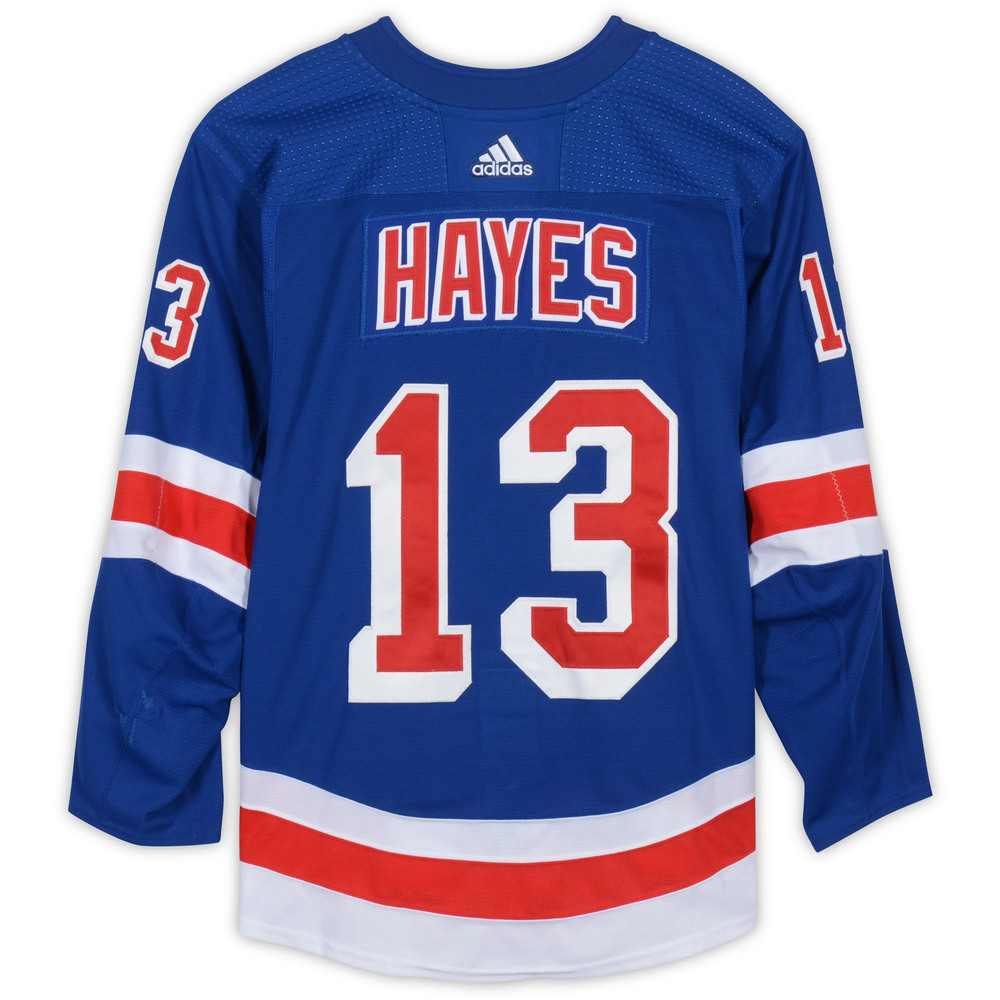 Kevin Hayes New York Rangers Game-Used #13 Blue Set 3 Jersey from the 2018-19 NHL Season - Size 58