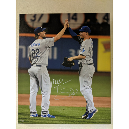 Photo of Clayton Kershaw and Joc Pederson Autographed Photo Canvas