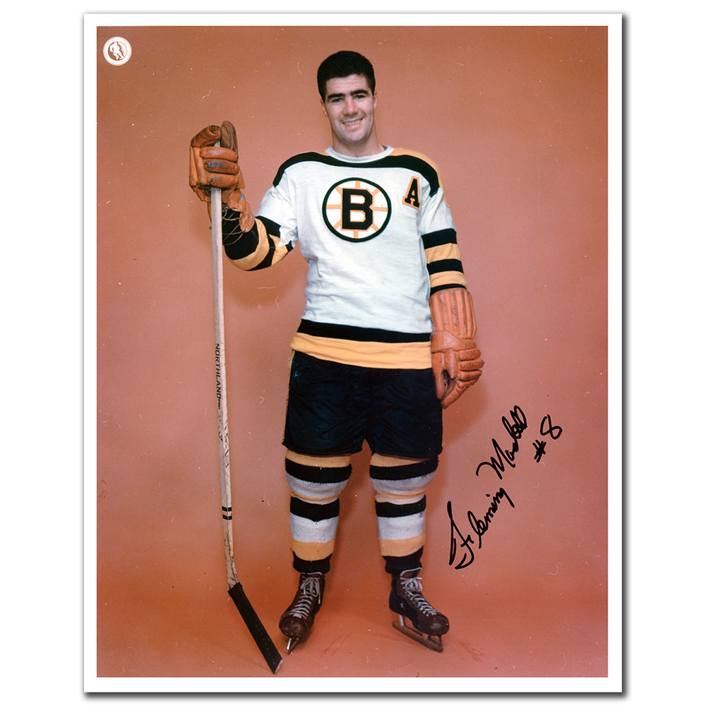 Fleming MacKell Boston Bruins Autographed 8x10 Photo