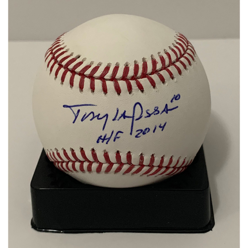 Tony LaRussa Autographed Baseball - Not MLB Authenticated - D-backs Certificate of Authenticity Included