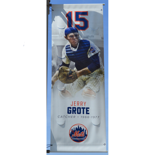 Photo of Jerry Grote #15 - Citi Field Banner - 2019 Season
