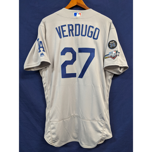 Photo of Alex Verdugo Team Issued 2019 Postseason Road Jersey