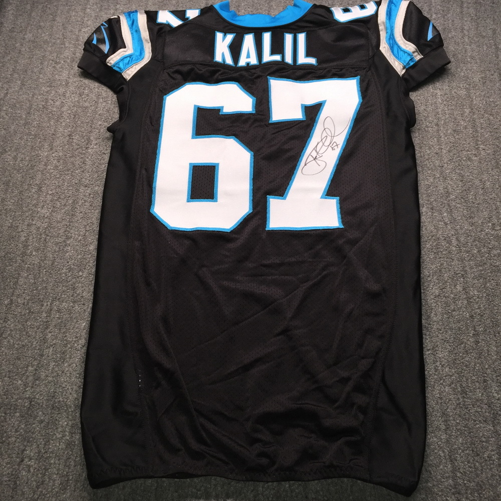 NFL Auction | Crucial Catch - Panthers Ryan Kalil Signed Game ...