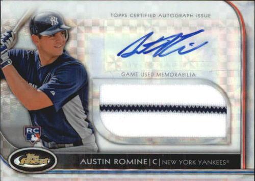 Photo of 2012 Finest Rookie Jumbo Relic Autographs X-Fractors #ARO Austin Romine