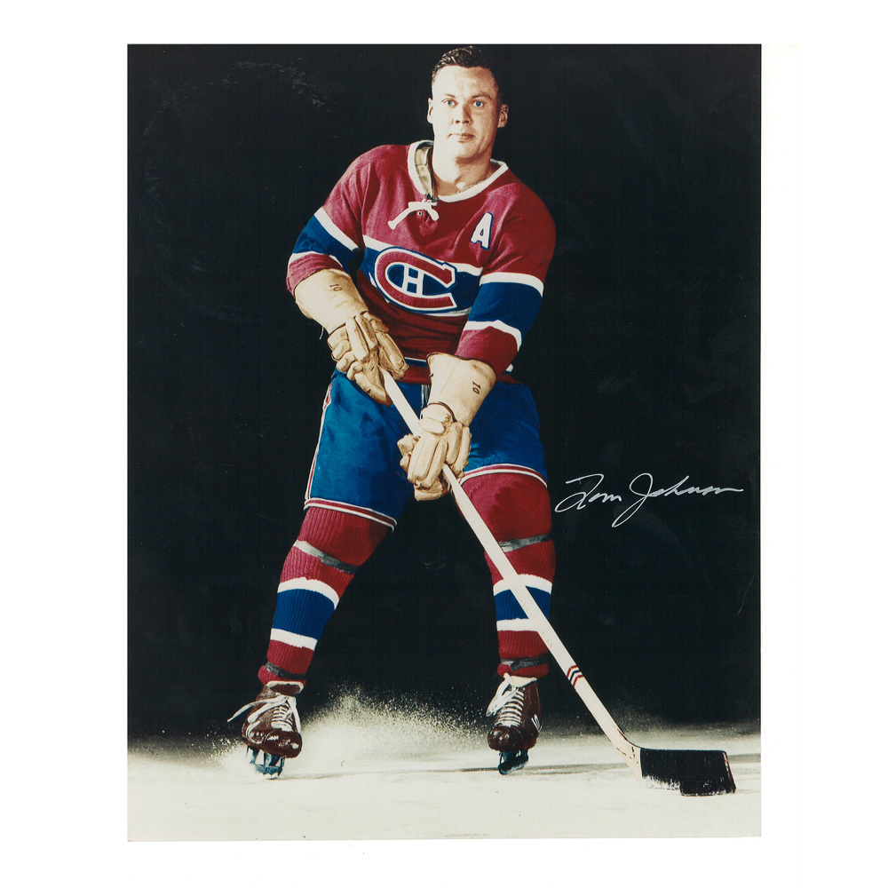 TOM JOHNSON Signed Montreal Canadiens 8 X 10 Photo - 70252