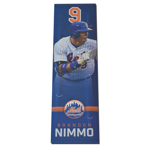 Photo of Brandon Nimmo - Citi Field Banner - 2017 Season