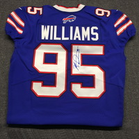BILLS - KYLE WILLIAMS SIGNED AUTHENTIC BILLS JERSEY - SIZE 46