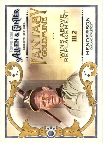 Photo of 2018 Topps Allen and Ginter Fantasy Goldmine #FG35 Rickey Henderson