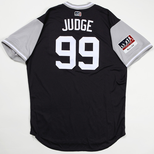 "Photo of Aaron ""Judge"" Judge New York Yankees Team Issued Jersey 2018 Players' Weekend Jersey"