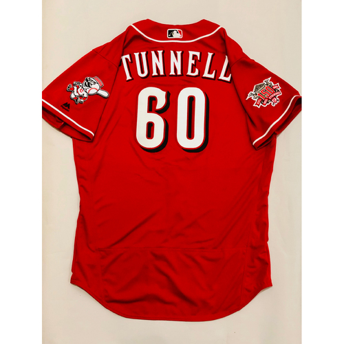 Photo of 2019 Mexico Series Game Used Jersey - Lee Tunnell Size 46 (Cincinnati Reds)