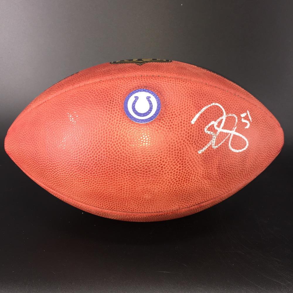 Colts - John Simon Signed Authentic Football W/ Colts Logo