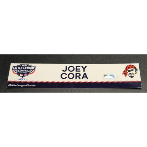 Photo of 2019 Little League Classic - Game Used Locker Tag - Joey Cora,  Chicago Cubs at Pittsburgh Pirates - 8/18/2019
