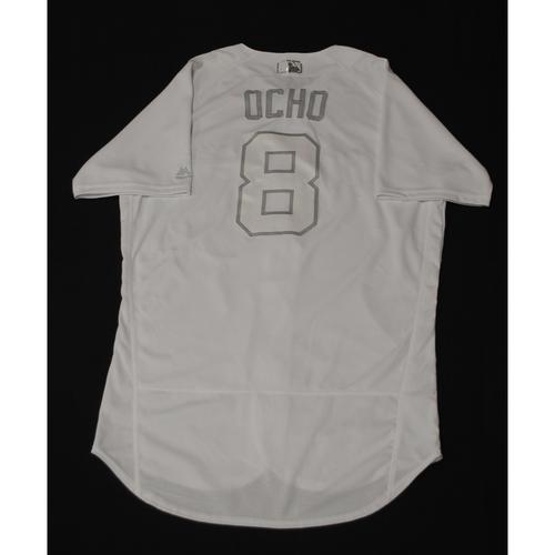 "Photo of Ryan ""OCHO"" Braun Milwaukee Brewers Game-Used 2019 Players' Weekend Jersey"