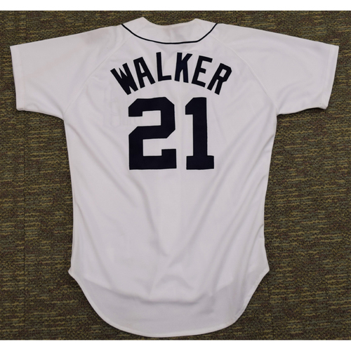 Photo of Mike Walker Clubhouse Issued Detroit Tigers #21 Home Jersey (NOT MLB AUTHENTICATED)
