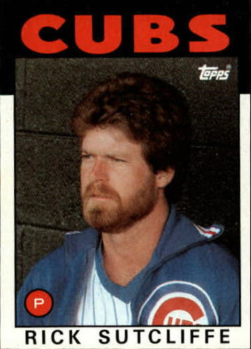 Photo of 1986 Topps #330 Rick Sutcliffe