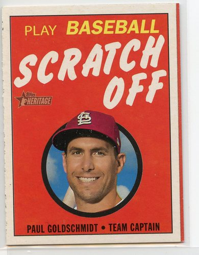 Photo of 2020 Topps Heritage '71 Topps Scratch Offs #7 Paul Goldschmidt