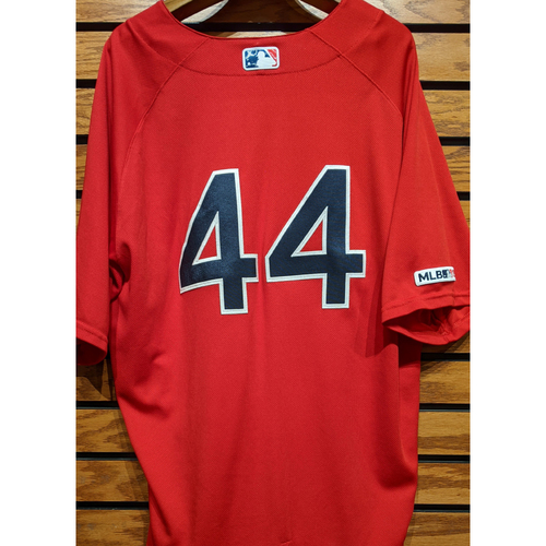 Photo of Brandon Workman #44 Game Used Red Home Alternate Jersey