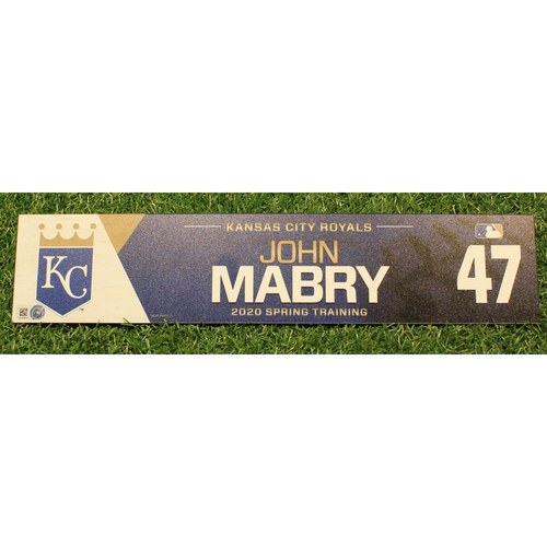 Photo of Game-Used 2020 Spring Training Locker Tag: John Mabry #47