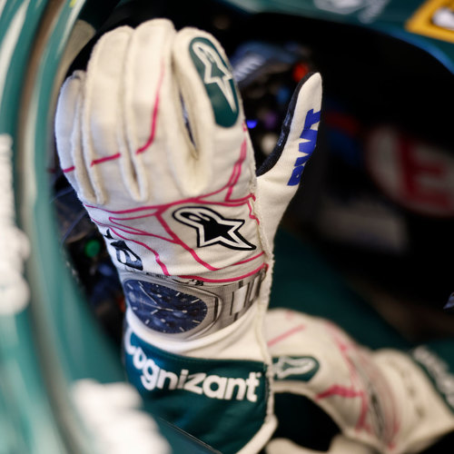 Photo of Lance Stroll 2021 Signed Race Used Race Gloves - Austrian GP