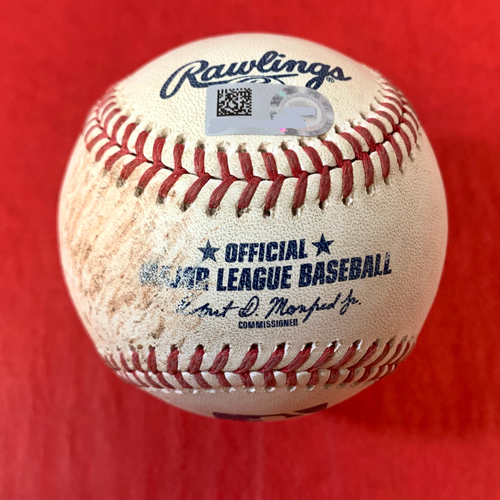Photo of Game-Used Baseball - Shohei Ohtani Strikes Out David Peralta Swinging with 87 MPH Splitter - Angels @ D-backs 6/11/2021
