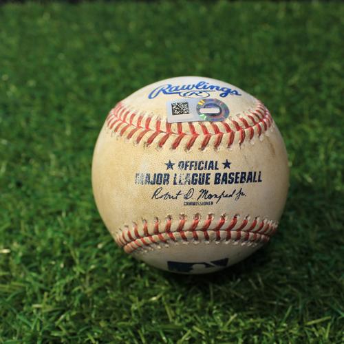 Photo of Game-Used Baseball: Colin Moran 283rd Career Hit (PIT@KC 9/13/20)